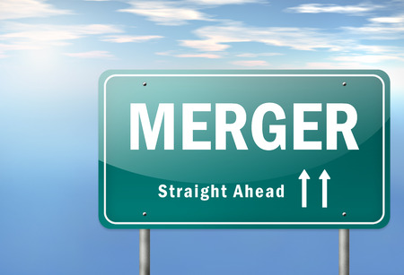 Merger Ahead Signpost